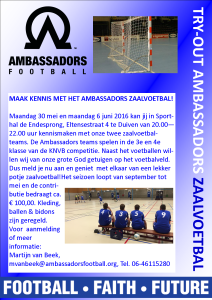 Poster zaalvoetbal AFH
